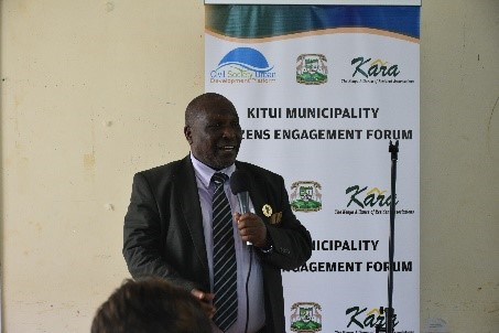 Kitui Citizen Engagement Forum in session: 25th April 2019